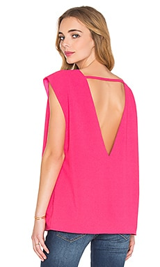 V-Back Top in Fuchsia