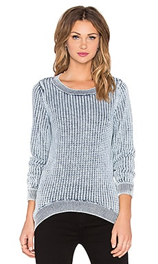 Crew Neck Sweater in Snow Wash