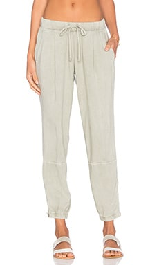 Zip Leg Jogger Pant in Safari Green
