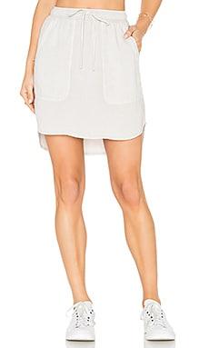 Pocket Drawcord Skirt in Mushroom