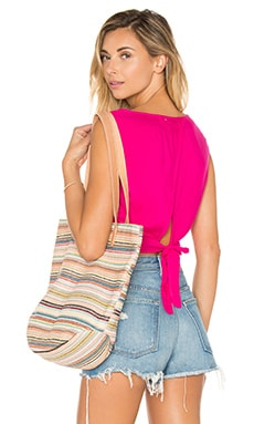 Tie Back Tank in Hibiscus