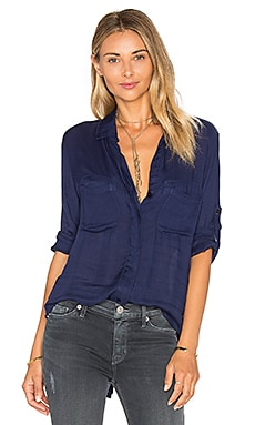 Split Back Button Down in Blue Indigo