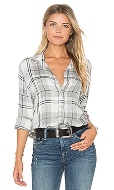 Whitehaven Flannel Plaid Halle Shirt in Heather Grey
