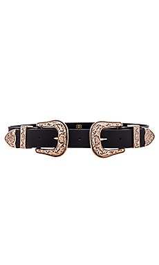 x REVOLVE Bri Bri Waist Belt in Black & Rose Gold