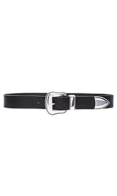 Villain Hip Belt in Black & Silver