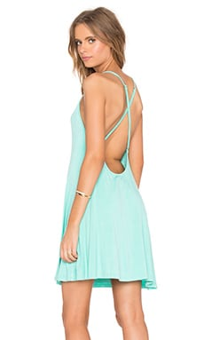 Cross Back Mini Dress in Sea Foam