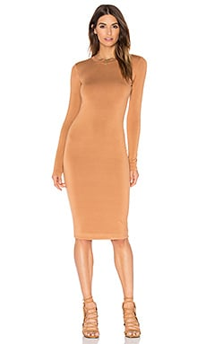 Long Sleeve Mini Dress in Caramel