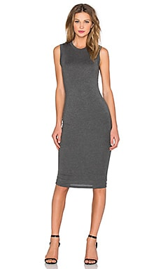 Sleeveless Tank Dress in Charcoal
