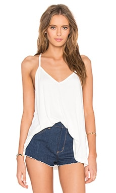 Cross Back Tank in White