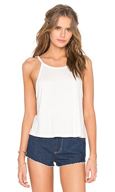 High Neck Tank in White