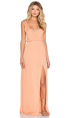 High Tide Maxi Dress in Papaya