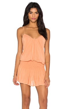 Criss Cross Back Halter Dress in Papaya