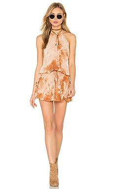 Island Life Halter Dress in Amber Stone