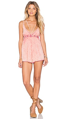 Rebel Romper in Pink Jean