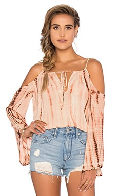 Cold Shoulder Top in Agave Sunset