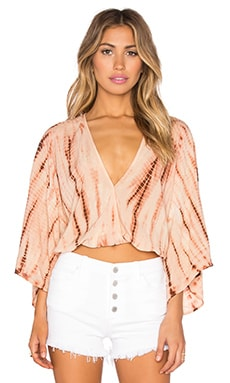 Kimono Crop Top in Agave Sunset