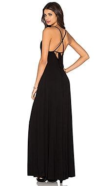 Low Back Maxi Dress in Black