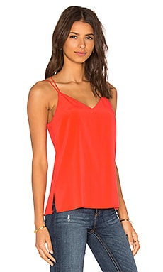 Cross Back Spaghetti Cami in Coral Reef