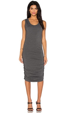Relaxed Dress Jersey Sleeveless Scoop Neck Mini Dress in Dark Grey