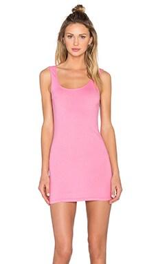 Light Weight Jersey Open Back Sleeveless Mini Dress in Sweetie Pink