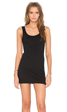Light Weight Jersey Open Back Sleeveless Mini Dress in Black
