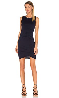 Supreme Jersey Ruched Bodycon Dress in Passport