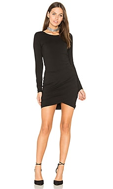 Jersey Ruched Dress in Black