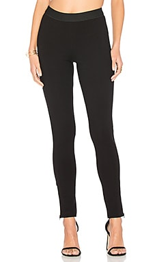 Rayon Ponte Zip Legging in Black