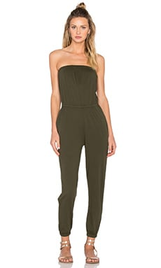 Supreme Jersey Strapless Cinched Waist Jumpsuit in Tank