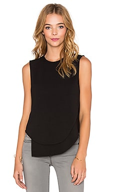 BLACK Knit Boucle Tank in Black