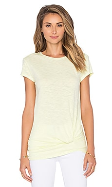 Slubbed Jersey Knot Front Tee in Mellow Yellow
