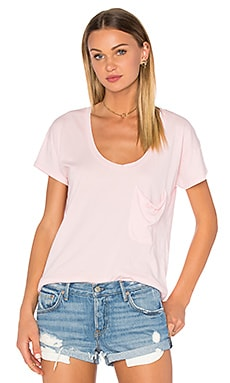 Pima Cotton Pocket Tee in Lipgloss