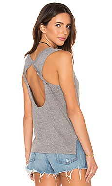 Speckled Jersey Open Back Tank in Grey