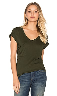 Light Weight Jersey Short Sleeve Pocket Tee in Mistletoe