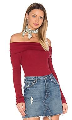 Modal Thermal Off Shoulder Top in Cranberry