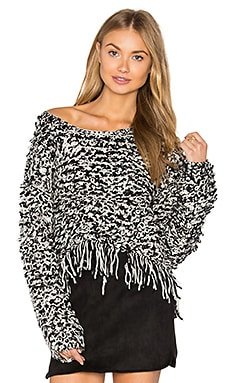 Vendome Crop Sweater in Black & White