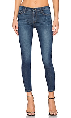 Amber Zip Skinny in Indigo Heights