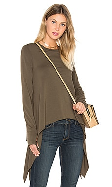 Thumbhole Crew Neck Tee in Olive