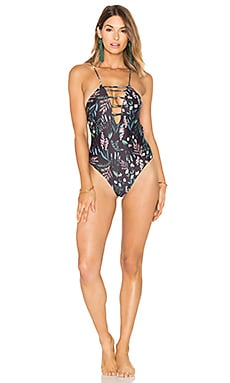 Strappy One Piece in Dark Bloom