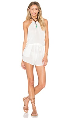 Lost Coast Romper in Natural Gauze