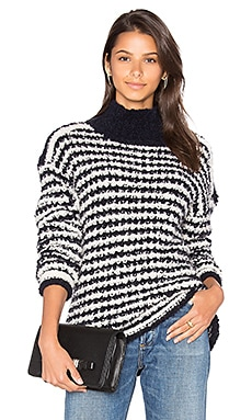 Eskimo Striped Sweater in Navy & Ivory