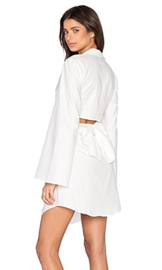 Fiction Shirt Dress in Ivory