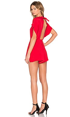 Night Air Romper in Red