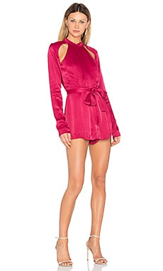 Can't Resist Long Sleeve Romper in Raspberry