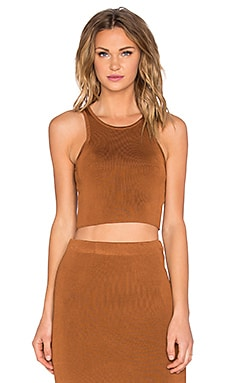 Waiting Game Crop Top in Copper