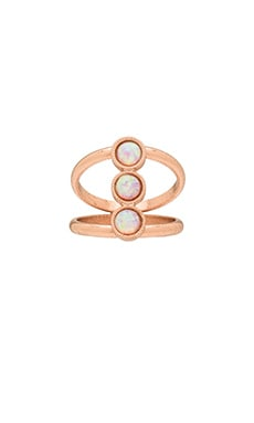Three Stone Ring in Rose Gold