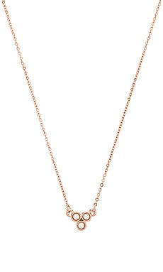Three Stone Pendant Necklace in Rose Gold