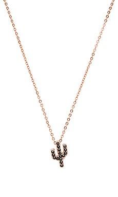 Studded Saguaro Necklace in Rose Gold