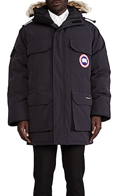 Expedition Coyote Fur Trim Parka in Navy