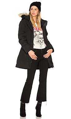 Trillium Parka with Coyote Fur Trim in Black